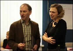 Andy Williamson and Involve's Ingrid Prikken in Kyiv (Feb 13)